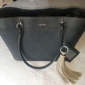 Calvin Klein non-leather black purse